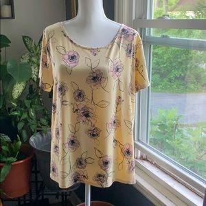 Apostrophe floral short sleeve top